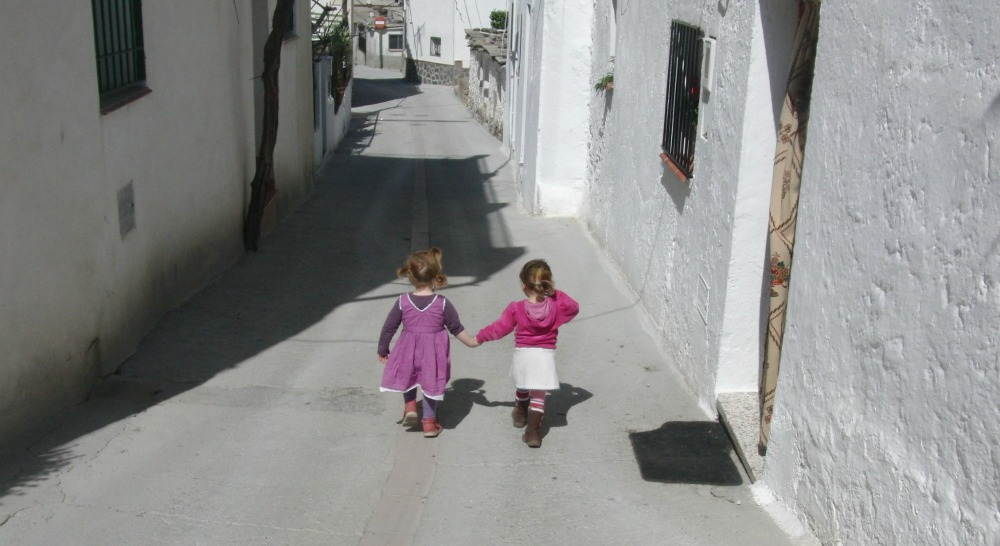 Here are our Two Little Girls in Spain